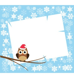 Card winter vector