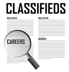 Classifieds search background vector
