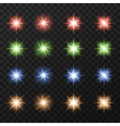 Collection of colorful stars vector image