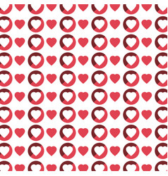 Color pattern with hearts in white background vector