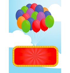 Colorful balloon and Advertising billboard vector image