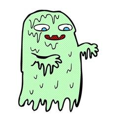 comic cartoon gross slime ghost vector image vector image