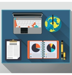 Concept of creative office workspace workplace vector image vector image