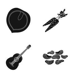 Cooking music and other web icon in black style vector