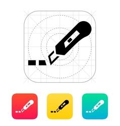 Cut line icon vector