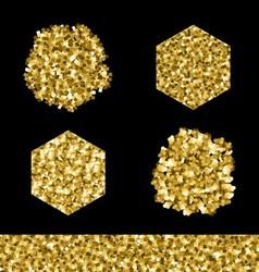 Editable brush set Golden glitter vector image