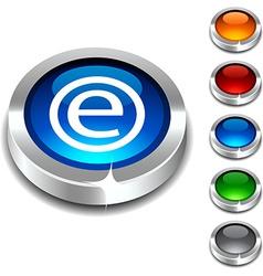Enternet 3d button vector image vector image