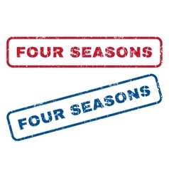 Four Seasons Rubber Stamps vector image