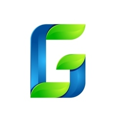 G letter leaves eco logo volume icon vector image vector image