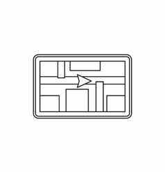 GPS navigation icon outline style vector image