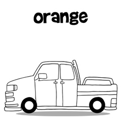 Hand draw of car art vector