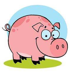 Happy Farm Pig With Spots vector image vector image