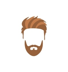 Hipster male hair and facial style with staline vector