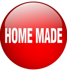 Home made red round gel isolated push button vector