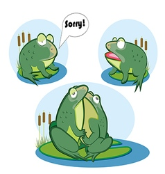 Love two frogs vector