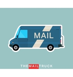 Mail truck isolated vector image vector image