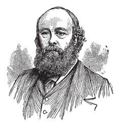 Marquis of salisbury robert cecil vintage vector