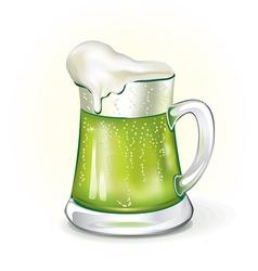 Mug of ale vector image vector image