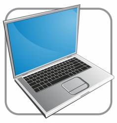 notebook laptop vector image