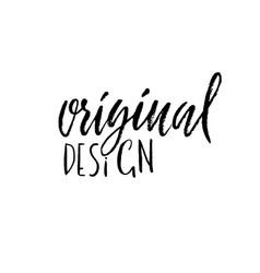 original design ink handwritten lettering modern vector image