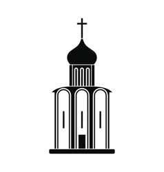 Orthodox church black simple icon vector