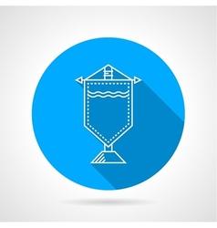 Round icon for souvenir pennon vector image vector image