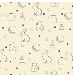 Seamless baby background vector image vector image