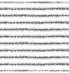 Seamless hand drawn pattern with arrows vector