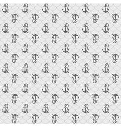 Seamless patterns gray anchors vector