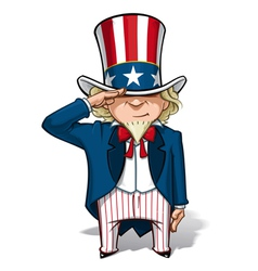 Uncle sam saluting vector