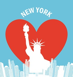 United States and New York design vector image vector image