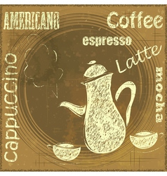 Vintage Stand for Coffee vector image vector image