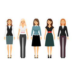 Women dress code vector