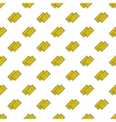 yellow cinema tickets seamless pattern vector image