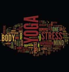 yoga the alternate routeto a stress free street vector image vector image
