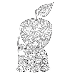 Zen art stylized snail vector