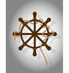 Icon sheep wheel with rope on gray background vector