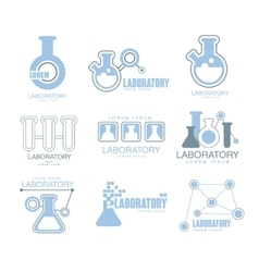 Chemical laboratory facility logo graphic design vector