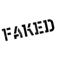 Faked rubber stamp vector