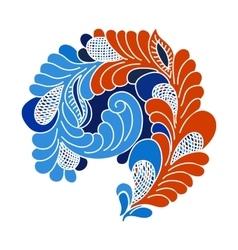 Abstract flourish design element vector image