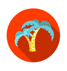 Palm tree icon summer vacation vector