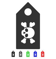 Death label flat icon vector