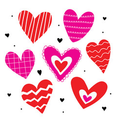 Heart love cute cartoon vector