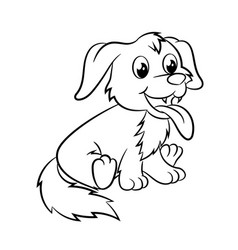 dog coloring book vector image