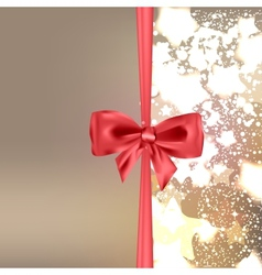 Abstract Christmas background with bow vector image