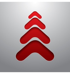 Red techno 3d christmas tree vector