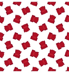 Red flat armchair seamless pattern vector
