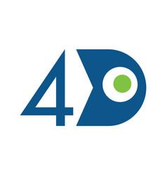 4d logo design concept vector
