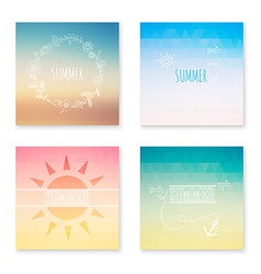 Cards collection of summer colored abstract vector