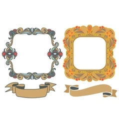 decorative hand drawn frames vector image